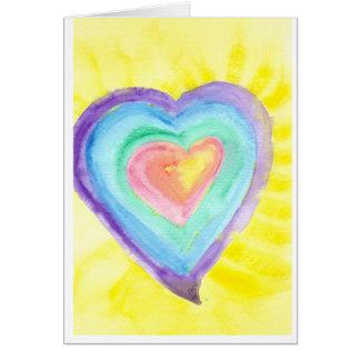 Cartão Coração de incandescência