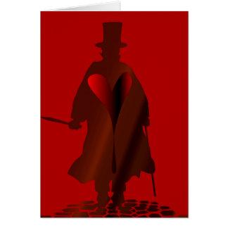 Cartão Coração de Jack the Ripper