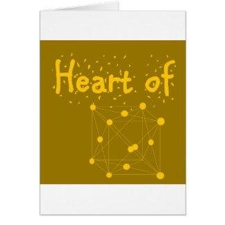 Cartão coração de ouro
