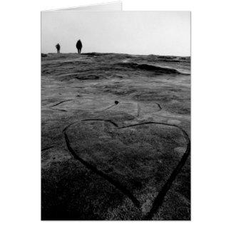 Cartão Coração de pedra