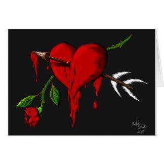 Cartão Coração de sangramento