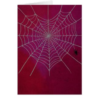 Cartão Coração de Spiderweb