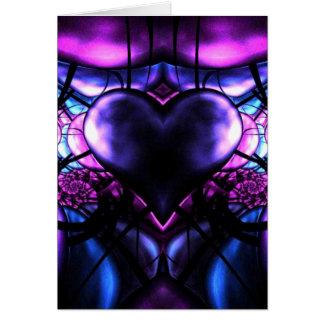 Cartão Coração delicado da Escorpião