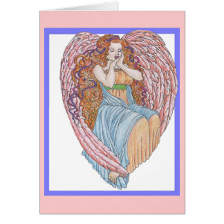 Cartão Coração do anjo