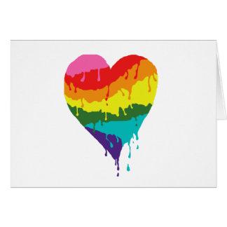 Cartão Coração do arco-íris