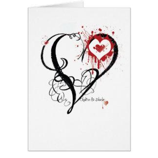 Cartão Coração do cálice e da lâmina