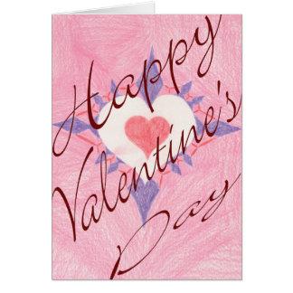 Cartão Coração do dia dos namorados