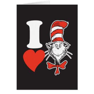 Cartão Coração do Dr. Seuss Namorados | I o gato no