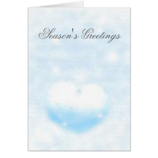Cartão Coração do inverno