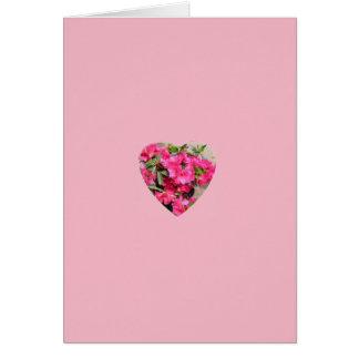 Cartão Coração do rododendro