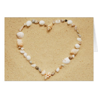 Cartão Coração do Seashell