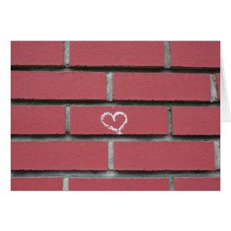 Cartão Coração do tijolo