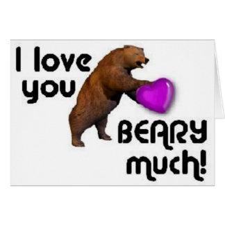 Cartão coração do urso
