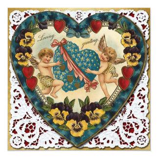 Cartão Coração dos namorados com laço - Victorian 2 do