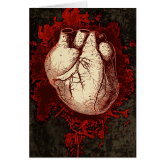 Cartão Coração e Spatter