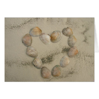 Cartão Coração em Handmade, papel de Shell do mar do