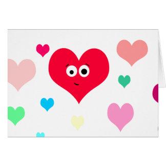 Cartão Coração entusiasta