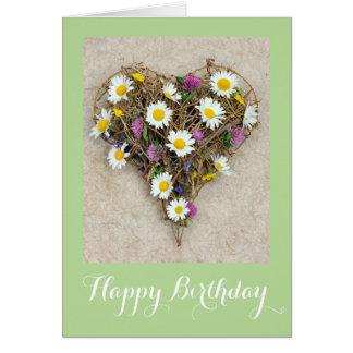 Cartão Coração floral