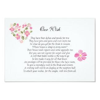 """Cartão Coração floral do """"convite do costume do casamento"""