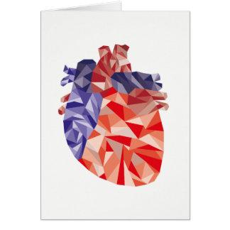 Cartão Coração geométrico