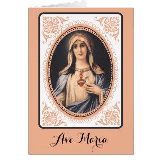 Cartão Coração imaculado da avenida Maria de Mary