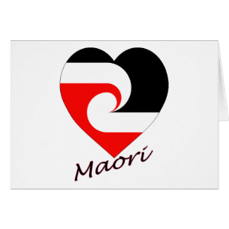 Cartão Coração maori da bandeira