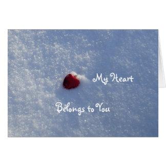 Cartão Coração-Namorado vermelho