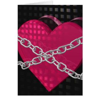 Cartão Coração nas correntes
