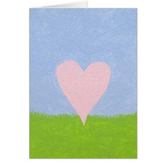 Cartão Coração no céu