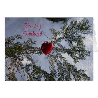 Cartão Coração para o cumprimento dos namorados do marido