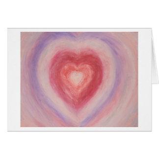 Cartão Coração Pastel