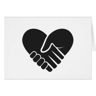 Cartão Coração preto conectado amor