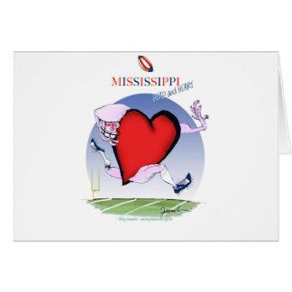 Cartão coração principal de mississippi, fernandes tony