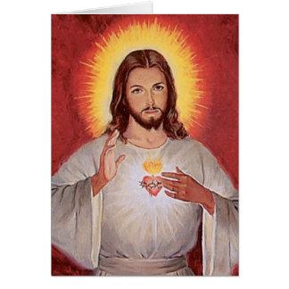 Cartão Coração sagrado de Jesus