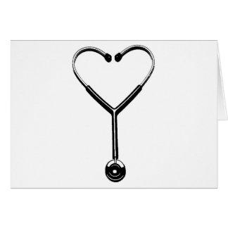 Cartão Coração Stethescope