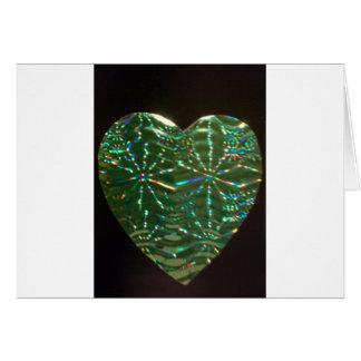 Cartão Coração verde do amor