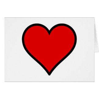 Cartão Coração vermelho