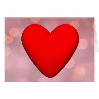 Cartão Coração vermelho - 3D rendem