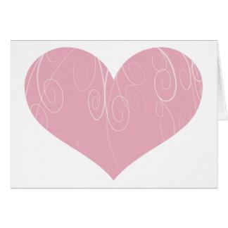 Cartão Corações bonito