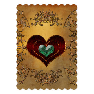 Cartão Corações bonitos