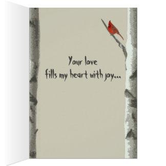 Cartão Corações cinzelados costume em namorados da árvore