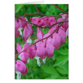 Cartão corações cor-de-rosa