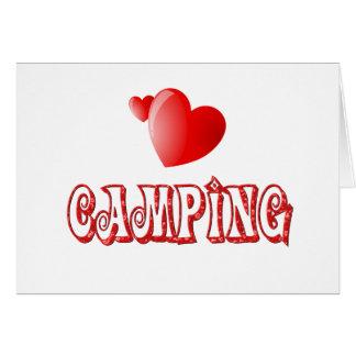 Cartão Corações de acampamento