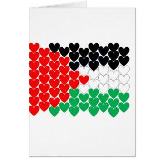 Cartão Corações de Palestina