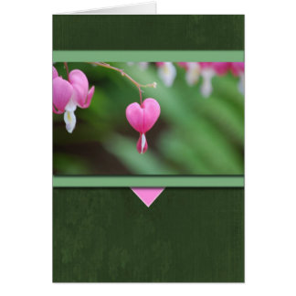 Cartão Corações de sangramento