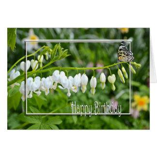 Cartão Corações do aniversário