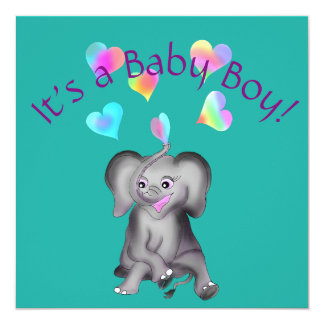 Cartão Corações do elefante pelos Feliz Juul Empresa