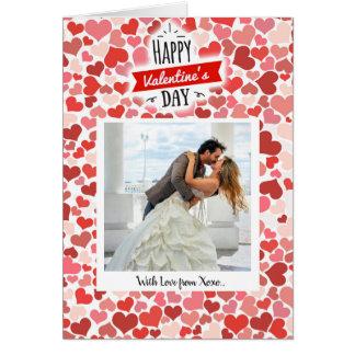 Cartão Corações do feliz dia dos namorados
