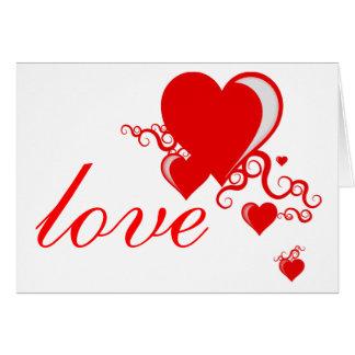 Cartão corações do squiggle