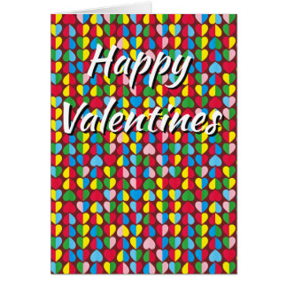 Cartão Corações dos doces dos namorados